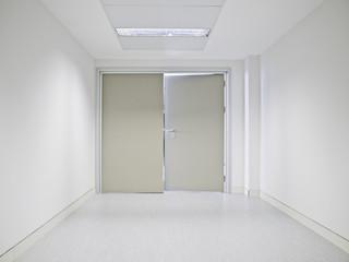 Interior white hospital