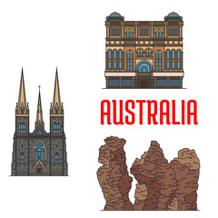 Historic architecture and sightseings of Australia