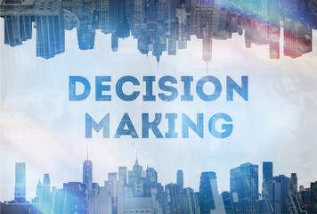 Decision making concept image