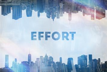 Effort concept image