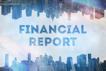 Financial report concept image