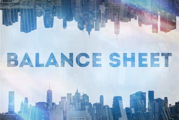 Balance sheet  concept image