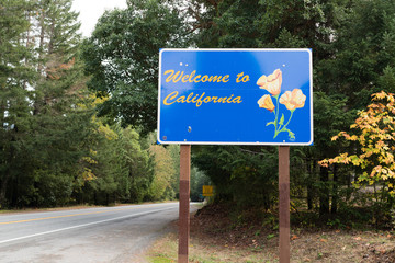 Welcome to California State Highway Entrance Sign
