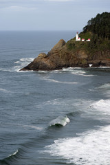 Heceta Head Oregon Coast Lighthouse Nautical Beacon USA
