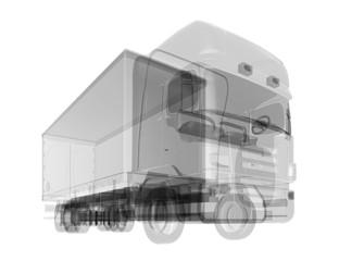 X-ray car isolated