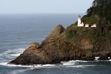 Heceta Head Oregon Coast Lighthouse Nautical Beacon USA
