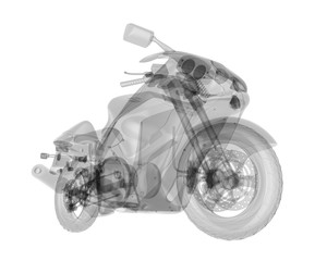 X-ray bike isolated