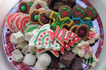 Christmas Cookies on Plate