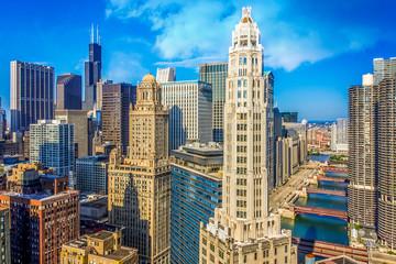 Printed roller blinds Chicago Chicago skyline