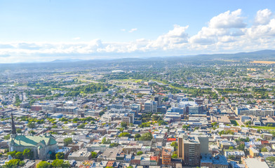 Panoramic view of the Quebec City Skyline, Canada