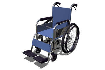 Wheelchair; 3d illustration