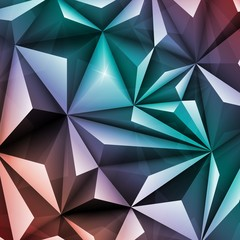Polygon Abstract Polygonal Geometric Triangle Multicolored