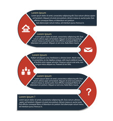 Infographic Template Background, Vector, Illustration