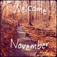 Inspirational Typographic Quote - Welcome November