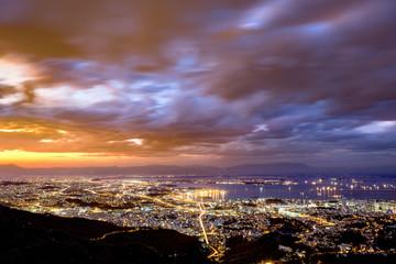 Fototapete - Aerial view of Rio de Janeiro downtown