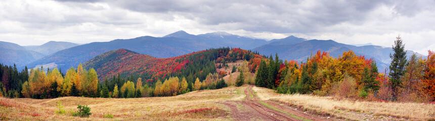 Aluminium Prints Mountains view of the Gorgan Hamster, Siniak, Javornik fall.
