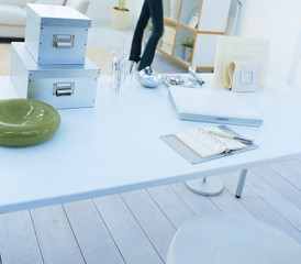 Modern office table interior