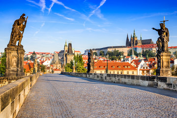 Wall Murals Prague Charles Bridge, Prague, Czech Republic