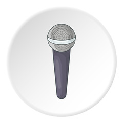 Microphone icon. Cartoon illustration of microphone vector icon for web