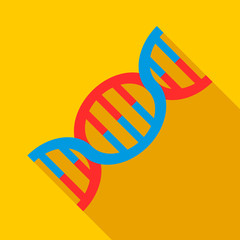 DNA icon. Flat illustration of DNA vector icon for web