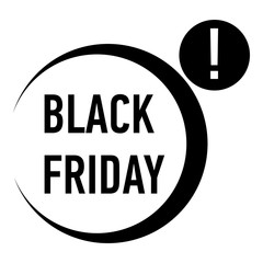 Black friday icon. Simple illustration of black friday vector icon for web
