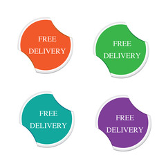 Free delivery sign icon Special offer label. Round stickers