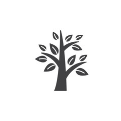 Tree icon vector, solid logo illustration, pictogram isolated on white