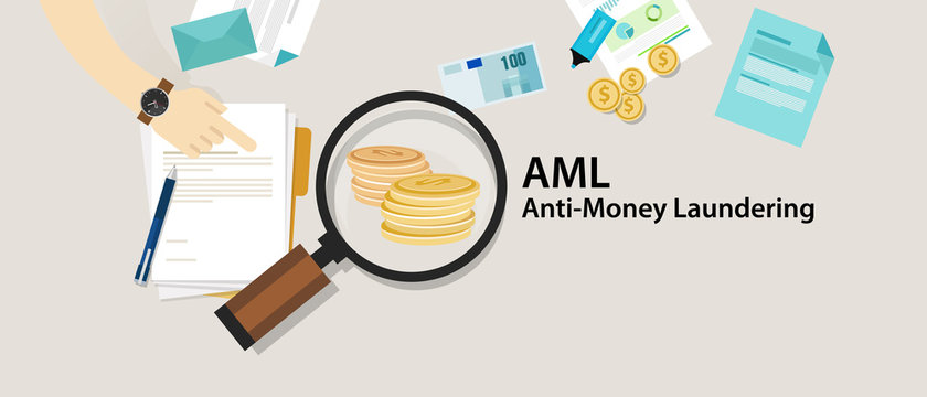 AML anti money laundering cash coin transaction company