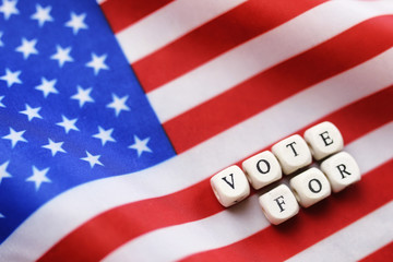 election simbol on usa flag