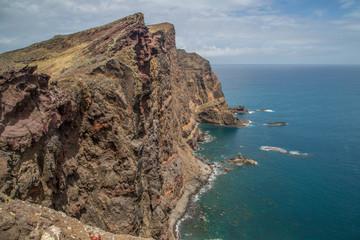 Wanderung auf der Landzunge von Sao Lourenco auf Madeira, Portugal