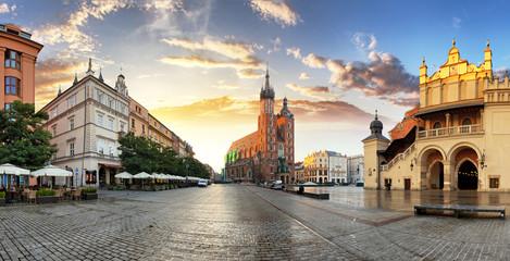 Obraz Rynek w Krakowie, Polska - fototapety do salonu
