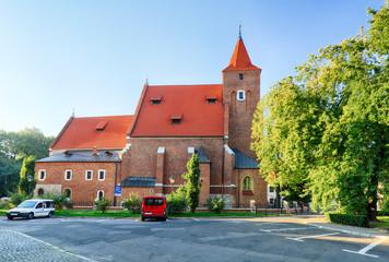 Holy cross church in Krakow near national theater