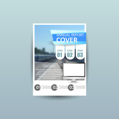 business brochure flyer design template, a4 vector
