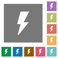 Flash square flat icons