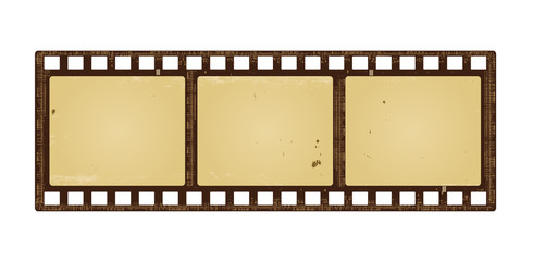 Retro filmstrip with grunge paper texture
