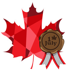 Red maple leaf. Canada Day.