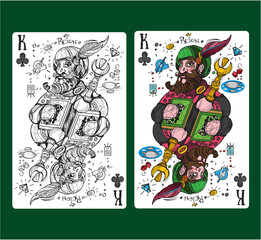 King of clubs playing card suit.