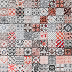 Ceramic tiles patterns from Portugal for background