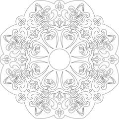 circular ornament I B&W