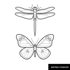 Set of insect icons.