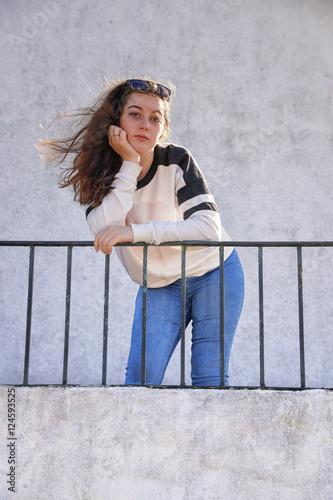 Brunette model teen
