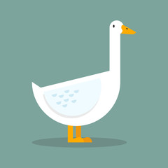 White goose flat style