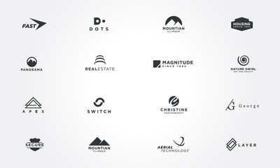 Minimal logo design collections concepts. Creative design vector illustration