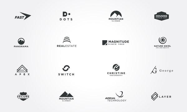Minimal logo design collections concepts. Creative design vector illustration