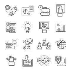 Assembly Line Icon Set