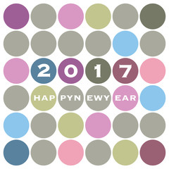 New Year Card Background Design - 2017