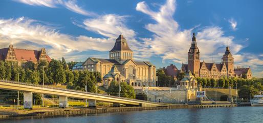 Obraz Wały Chrobrego,(tarasy Hakena),Sczecin,Polska - fototapety do salonu