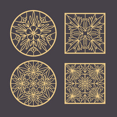 Set decorative design elements.