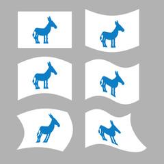 Donkey Flag. Democrat National flag of presidential election in