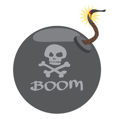 Bomb illustration on the pirate theme.